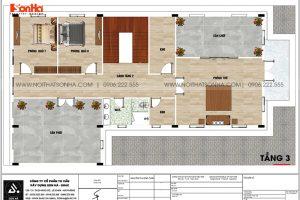 22 Bản vẽ tầng 3 biệt thự tân cổ điển 3 tầng tại an giang sh btp 0150