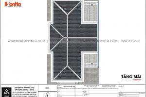 24 Bản vẽ tầng mái biệt thự tân cổ điển đẹp tại quảng ninh