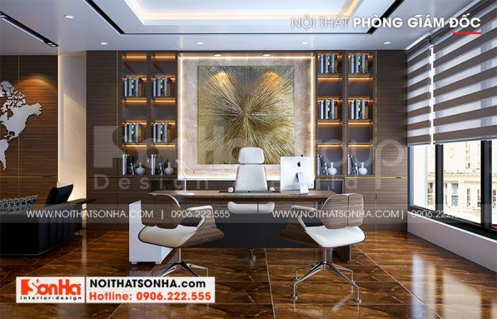 Mẫu phòng giám đốc sang trọng với thiết kế nội thất hiện đại nhất hiện nay