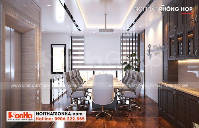 Mẫu nội thất phòng họp hiện đại tại tầng 2 ngôi nhà phố