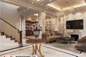 4 Thiết kế nội thất sảnh tầng 1 kiểu tân cổ điển tại quảng ninh
