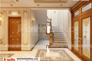 5 Bố trí nội thất sảnh thang kiểu tân cổ điển tại an giang sh btp 0150