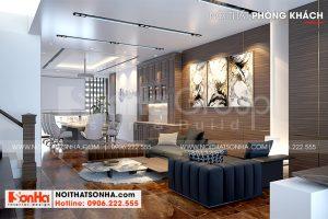 5 Thiết kế nội thất phòng khách nhà phố liền kề tại khu đô thị waterfront hải phòng wfc 008