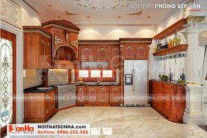 7 Mẫu nội thất phòng bếp biệt thự tân cổ điển tại vĩnh long sh btp 0145