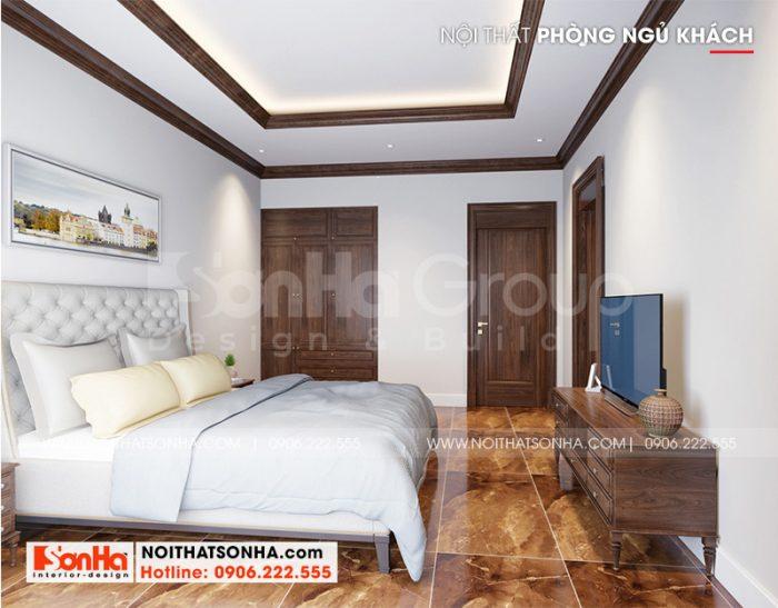 Cách trang trí phòng ngủ khách đẹp mang hơi hướng tân cổ điển nhẹ nhàng