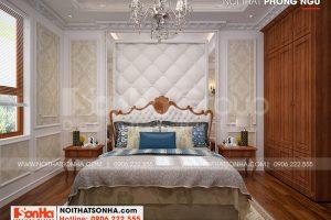 9 Trang trí nội thất phòng ngủ 3 biệt thự tân cổ điển tại an giang sh btp 0150