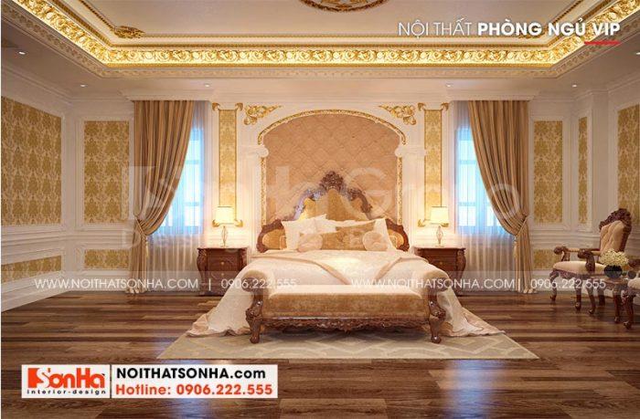 Ý tưởng bài trí phòng ngủ xa hoa với nội thất cao cấp được gia chủ vô cùng hài lòng và đánh giá cao