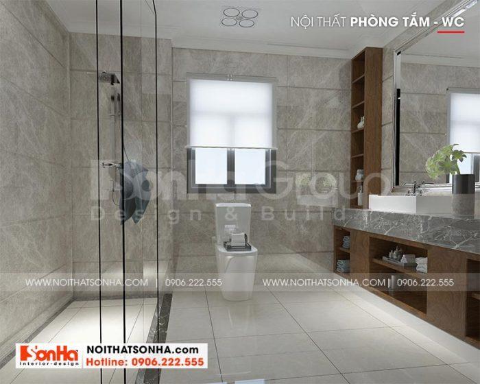 Mẫu phòng tắm và nhà vệ sinh với thiết bị cao cấp bố trí khoa học, phong thủy trong mỗi phòng ngủ