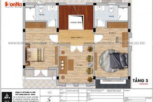 14 Bản vẽ tầng 3 biệt thự tân cổ điển mặt tiền 12m tại vinhomes imperia hải phòng