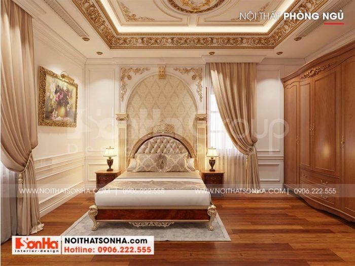 Thêm một phương án thiết kế nội thất phòng ngủ đẹp dành cho biệt thự lâu đài tại Long An