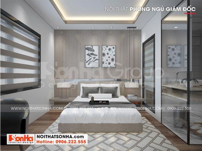 Ý tưởng thiết kế nội thất phòng ngủ giám đốc đẹp, hiện đại và tiện nghi