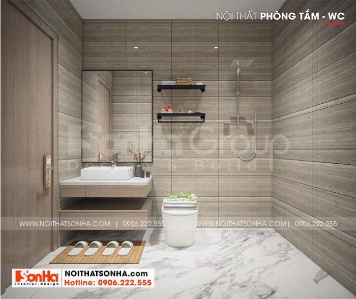 Bố trí nhà vệ sinh khách sạn hiện đại và phong thủy trong mỗi căn phòng ngủ khách sạn