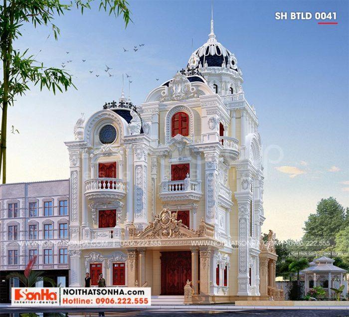 Cận cảnh từng đường nét kiến trúc tinh tế của ngôi biệt thự lâu đài đẹp tại Long An
