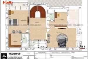23 Bản vẽ lầu 1 biệt thự lâu đài 4 tầng tại long an sh btld 0041