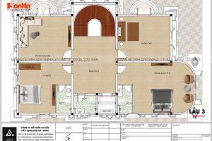 25 Bản vẽ lầu 3 biệt thự lâu đài mặt tiền 11,4m tại long an sh btld 0041