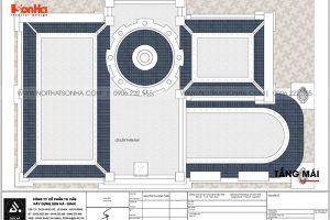 27 Bản vẽ tầng mái biệt thự lâu đài cổ điển pháp tại long an sh btld 0041