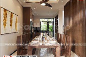 4 Bố trí nội thất phòng bếp ăn kiểu tân cổ điển tại vinhomes imperia hải phòng