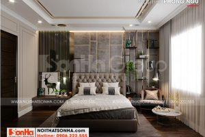 4 Bố trí nội thất phòng ngủ 1 kiểu tân cổ điển tại khu đô thị vinhomes imperia hải phòng