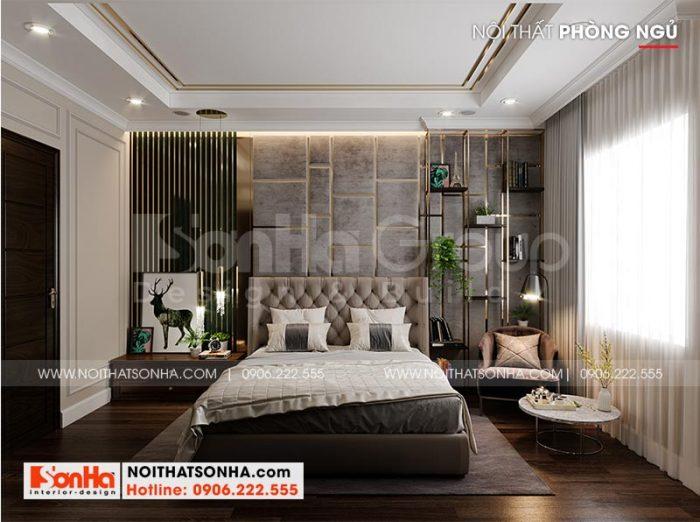 Ý tưởng thiết kế nội thất phòng ngủ biệt thự Vinhomes đẹp mắt, ấn tượng mang hơi hướng tân cổ điển