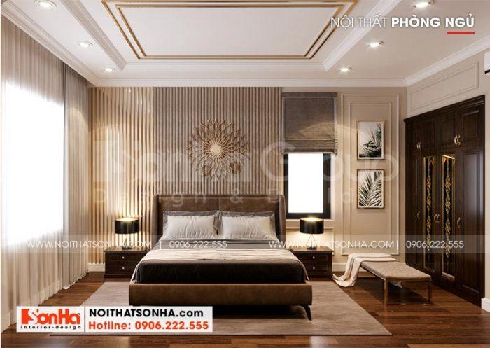 Thiết kế nội thất phòng ngủ với phong cách tân cổ điển mang đến không gian lãng mạn, nhẹ nhàng