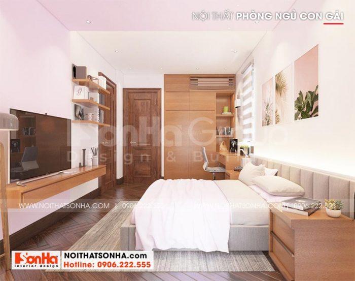 Phương án trang trí phòng ngủ đẹp phù hợp với sở thích của cậu con trai gia chủ