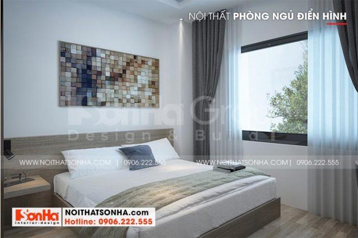 Mẫu phòng ngủ đẹp cho khách sạn 2 sao mang đậm nét hiện đại, màu sắc trẻ trung