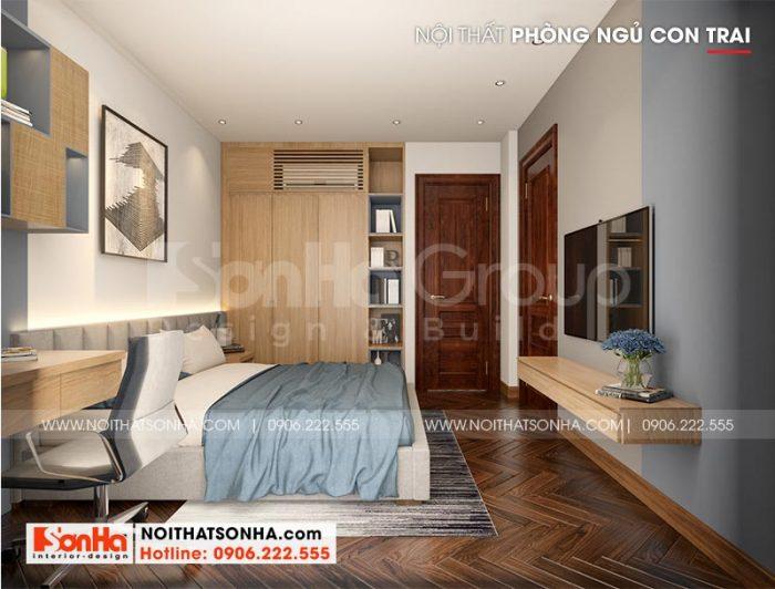 Ý tưởng thiết kế phòng ngủ biệt thự con gái ấn tượng với nội thất tân cổ điển nhẹ nhàng