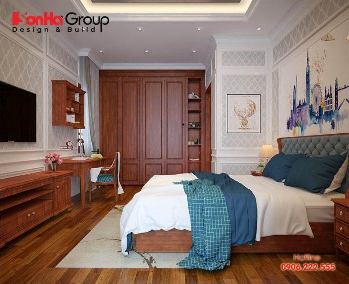 Nội thất phòng ngủ đẹp, ánh sáng thông thoáng dành cho phòng ngủ bé trai với độ tuổi teen