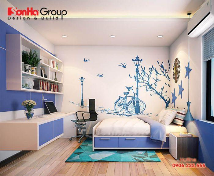 Phong cách trang trí căn phòng đơn giản dành cho bé trai nhưng vẫn đảm bảo sự an toàn và tiện nghi