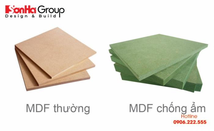 Ván gỗ MDF có thể kết hợp với nhiều loại vật liệu bề mặt để tạo ra thành phẩm