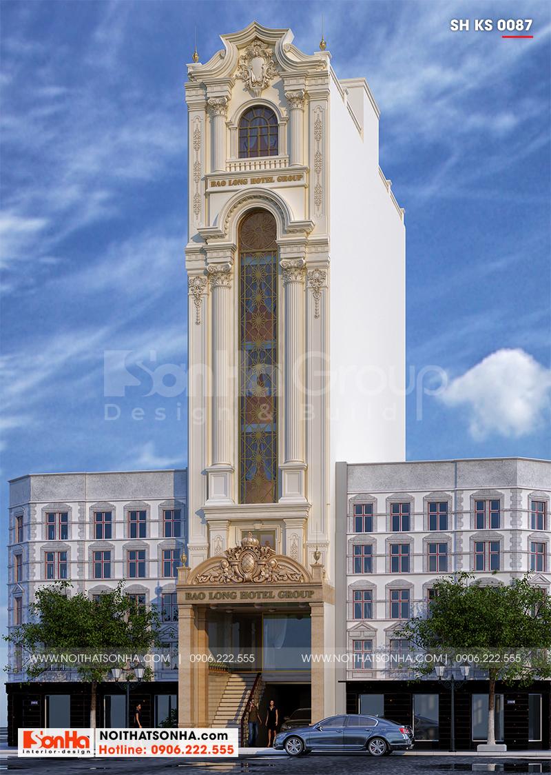 Mẫu thiết kế cải tạo kiến trúc khách sạn tiêu chuẩn 3 sao tân cổ điển
