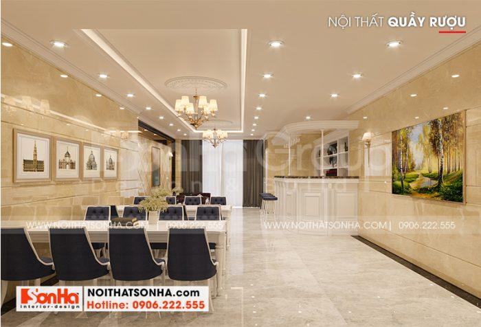 Gam màu hoàng kim được sử dụng có duyên trong thiết kế nội thất khách sạn