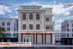 1 Thiết kế biệt thự tân cổ điển kết hợp kinh doanh tại hải phòng sh btp 0149