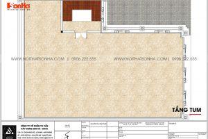 10 Bản vẽ tầng tum biệt thự tân cổ điển 3 tầng tại hải phòng sh btp 0149