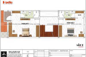 15 Bản vẽ lầu 2 nhà ống hiện đại có 3 phòng ngủ tại sài gòn sh nod 0222