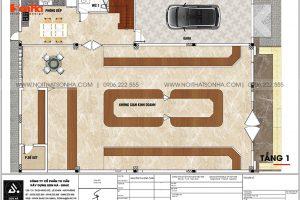 7 Mặt bằng tầng 1 biệt thự tân cổ điển mặt tiền 15m tại hải phòng sh btp 0149