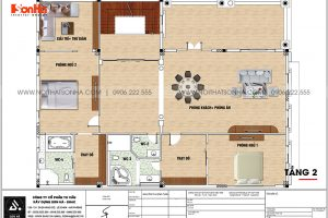 8 Bản vẽ tầng 2 biệt thự tân cổ điển kết hợp kinh doanh tại hải phòng sh btp 0149