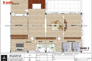 9 Mặt bằng tầng 3 biệt thự tân cổ điển sang trọng tại hải phòng sh btp 0149