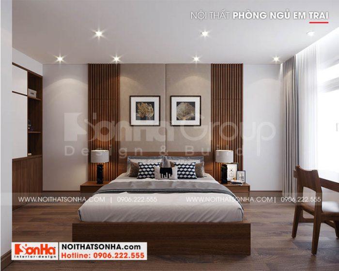 Mẫu phòng ngủ đẹp cho nhà phố hiện đại 3 tầng thêm tiện nghi