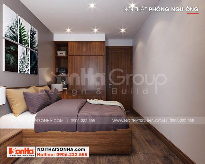 Thiết kế phòng ngủ nhỏ xinh phong cách hiện đại với nội thất gỗ