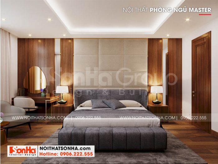 Thiết kế nội thất phòng ngủ master phong cách hiện đại đẳng cấp