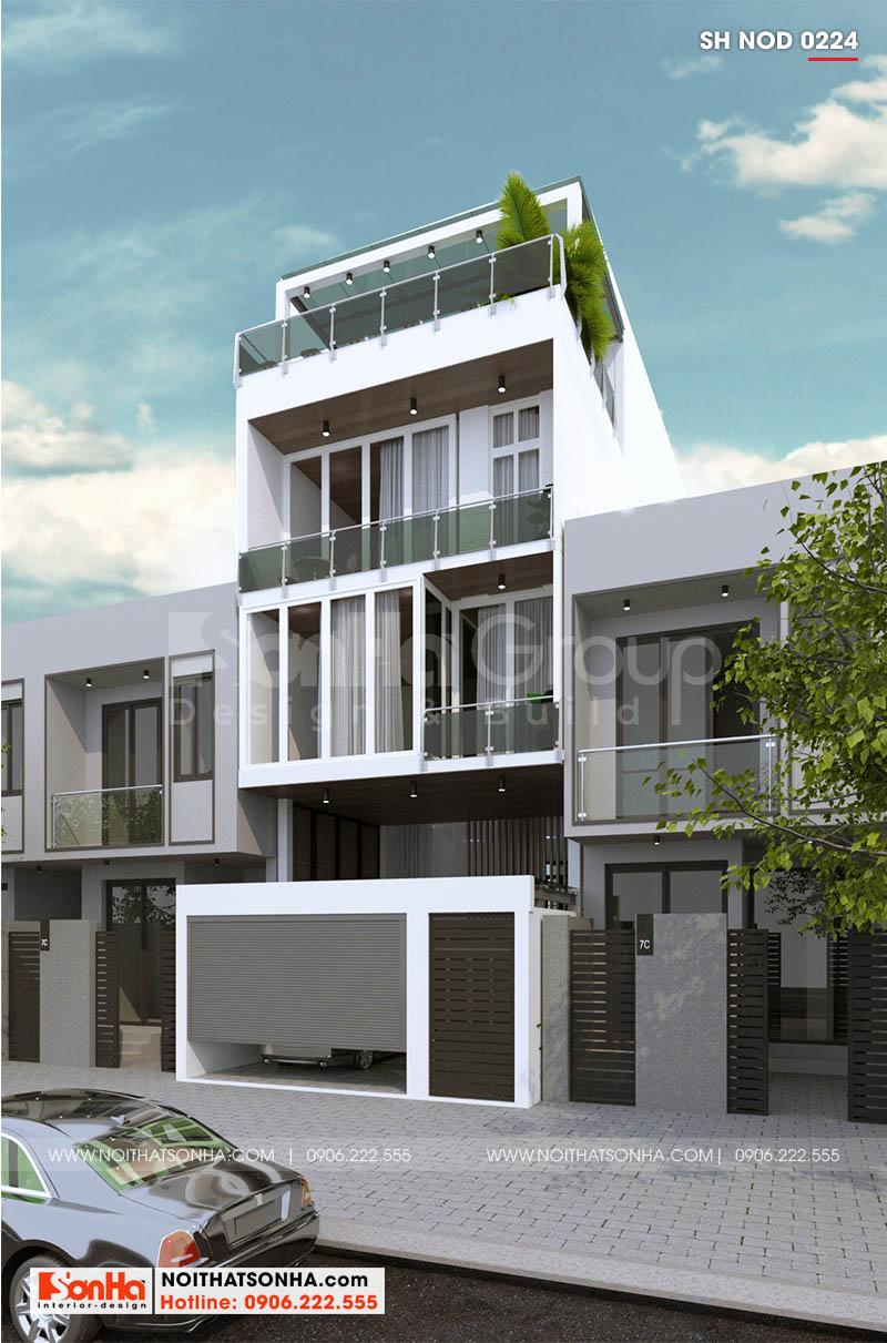 Mẫu nhà phố 3 tầng hiện đại thiết kế linh hoạt và tinh tế mọi đường nét