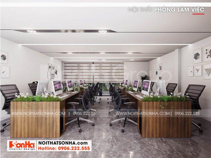 Không gian nội thất phòng làm việc hiện đại và chuyên nghiệp