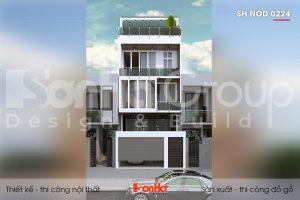 BÌA thiết kế nội thất nhà ống hiện đại 3 tầng 1 tum tại sài gòn sh nod 0224
