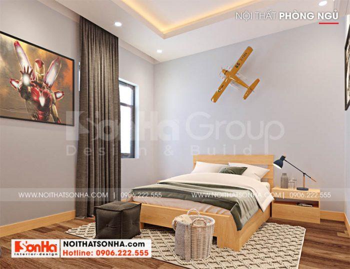 Phòng ngủ độc đáo trong nhà phố hiện đại Hoàng Huy Mall Hải Phòng