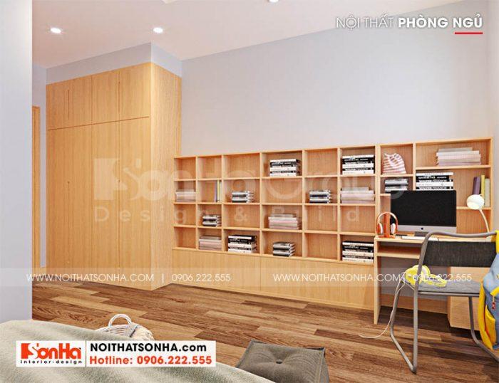 Nội thất phòng ngủ nhà phố Hoàng Huy Mall tại Hải Phòng