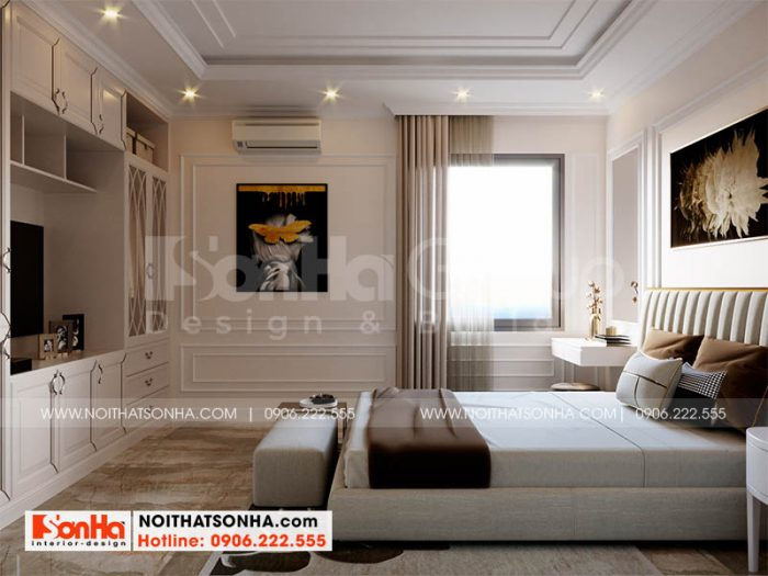 Trang trí nội thất phòng ngủ 3 đẹp tại dự án Hoàng Huy Mall Hải Phòng