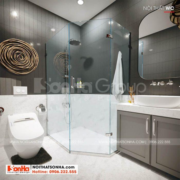 Không gian phòng tắm trong nhà phố Hoàng Huy Mall tại Hải Phòng