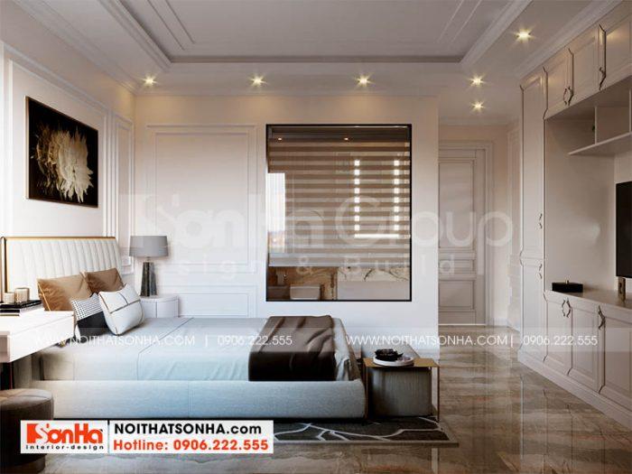 Bố trí nội thất phòng ngủ 3 tại Hoàng Huy Mall Hải Phòng