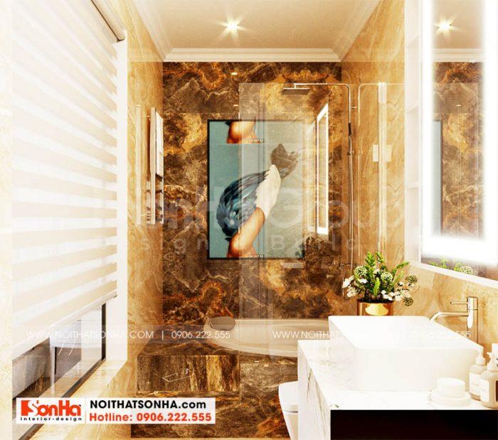 Nội thất phòng tắm – WC trong nhà phố tại Hoàng Huy Mall Hải PHòng